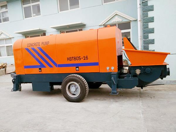 HBTS80 trailer concrete pump