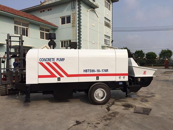 HBTS90 trailer mounted concrete pump